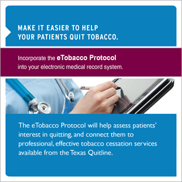 Make it easier to help your patients quit with the eTobacco Protocol